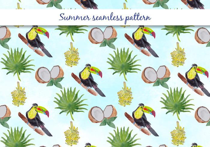 Tropische Vektor Sommer Nahtlose Muster