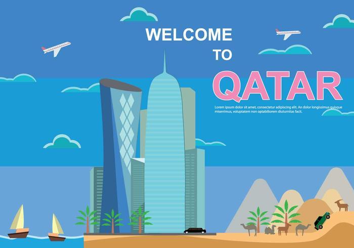 Kostenlose Katar Illustration vektor