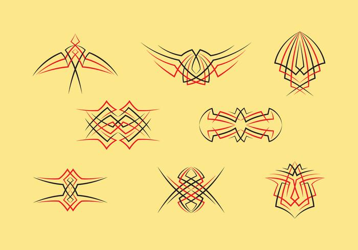 Pinstripes grafiska vektor