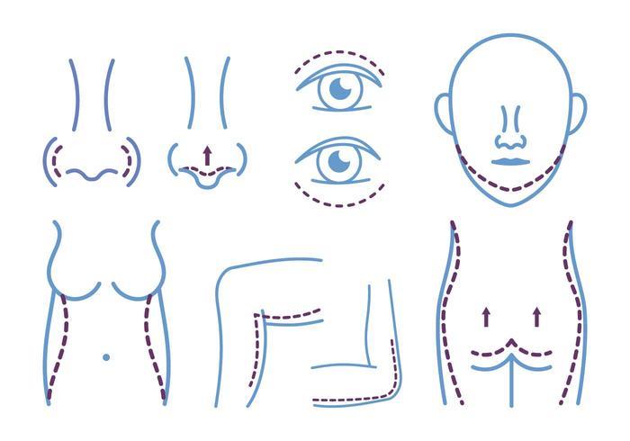 Plastikkirurgi Ikon vektor