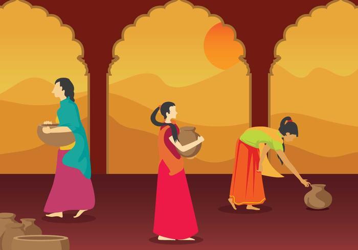 Kostenlose indische Frau Illustration vektor
