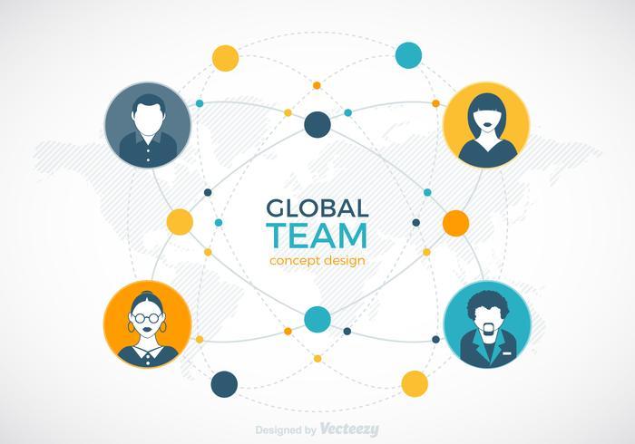 Globales Team-Vektor-Design vektor