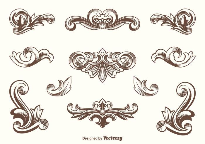 Vektor Acanthus Design Elemente