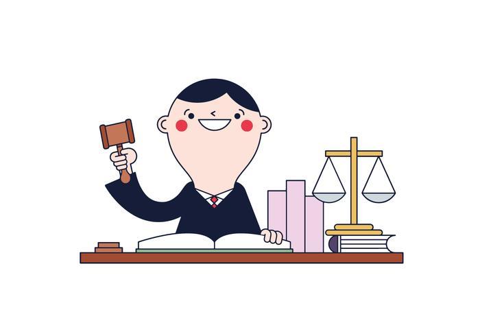 Freier Richter Vektor