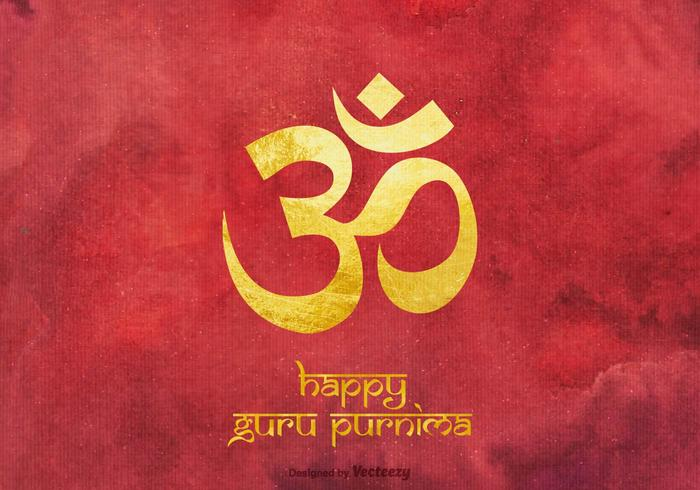 Free Happy Guru Purnima Vektor Hintergrund