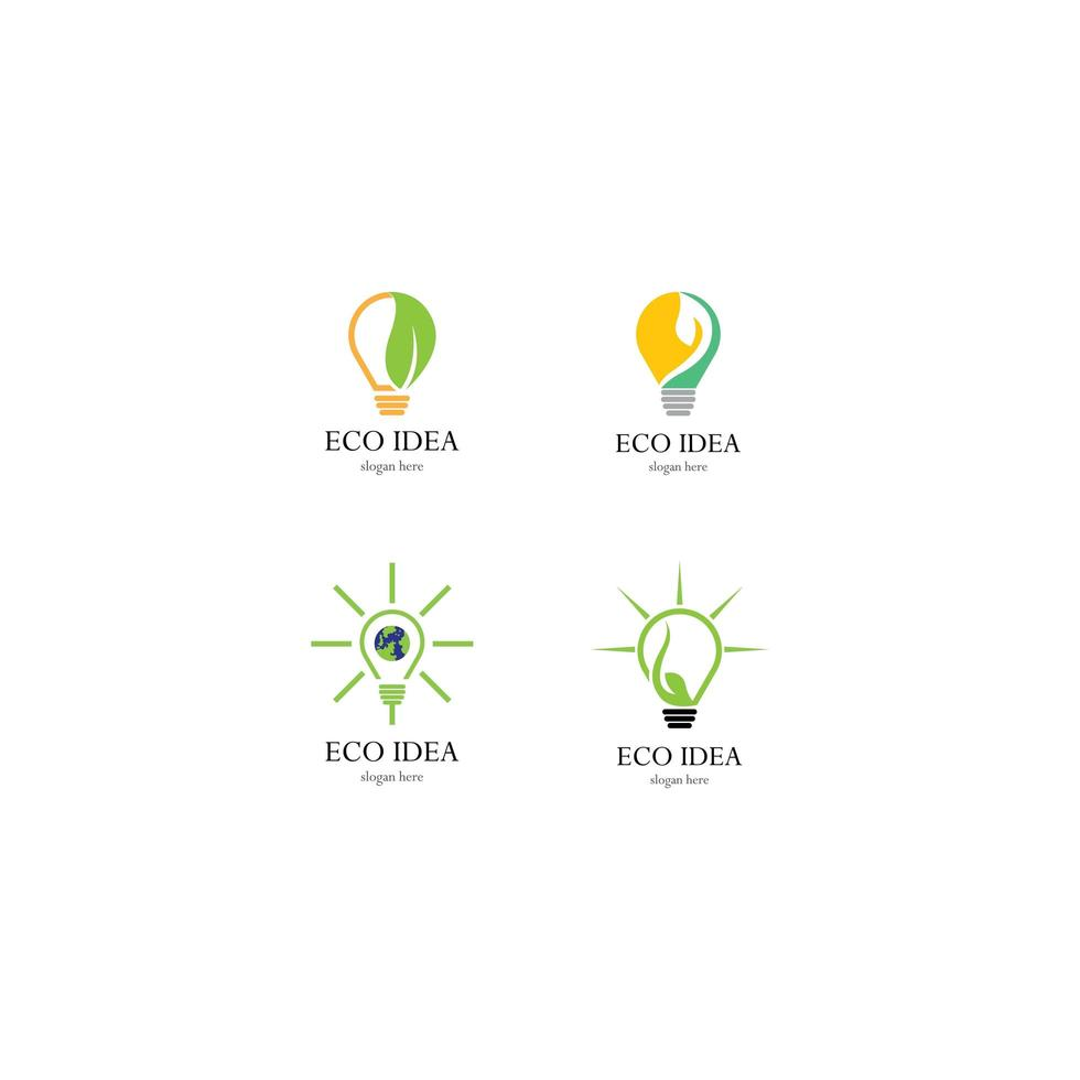 glödlampa logotyp mall vektor