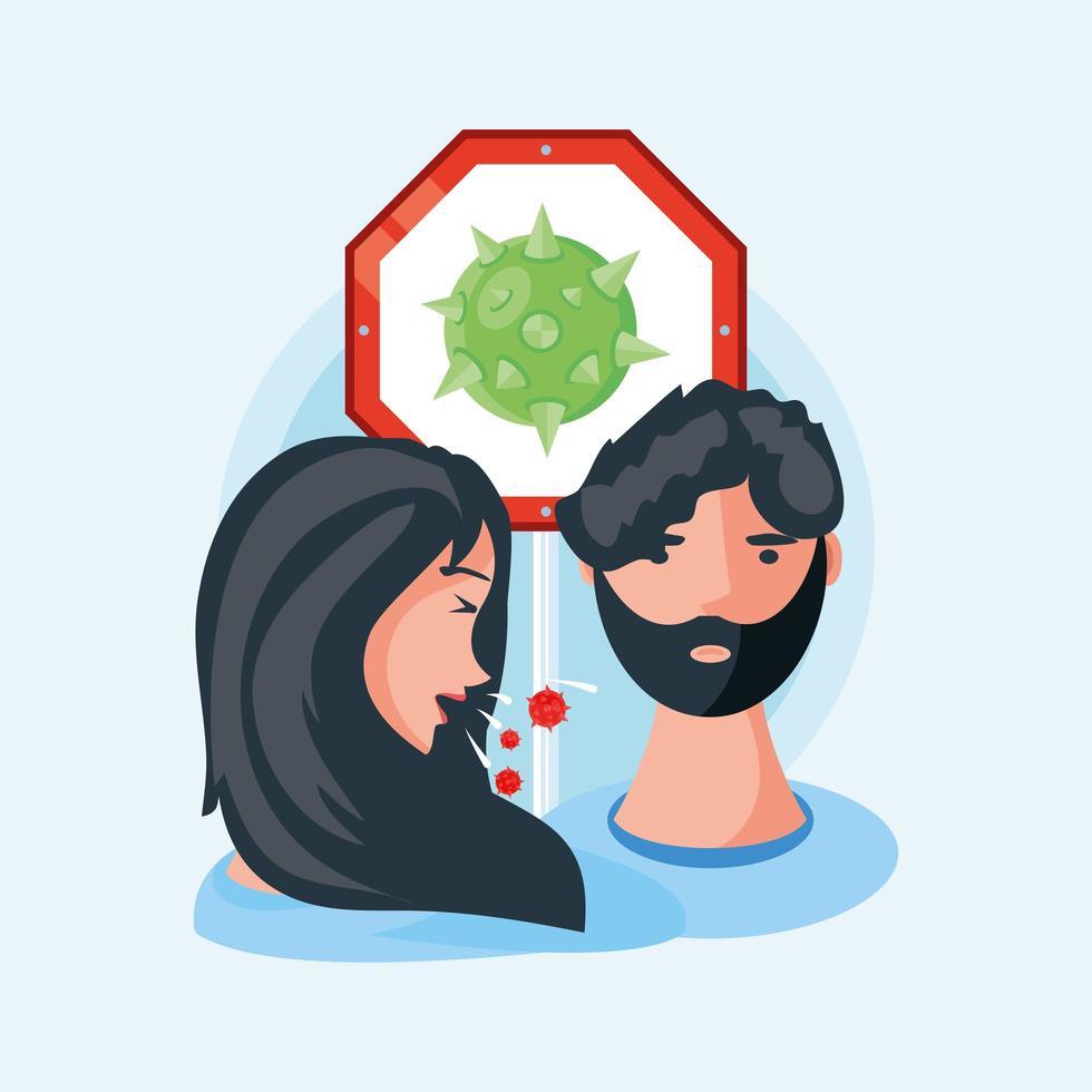 Menschen mit Symptomen des Coronavirus vektor