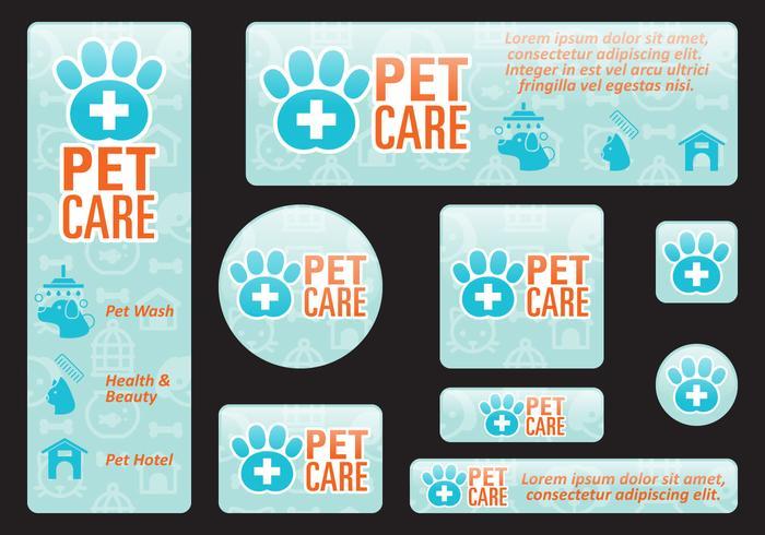 Haustierpflege Banner vektor