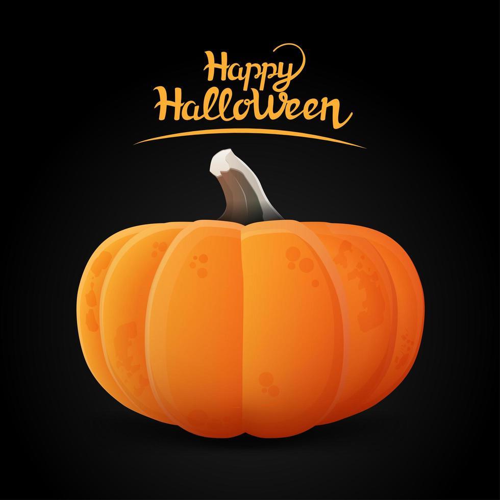 Kürbis- und Halloween-Schriftzug vektor