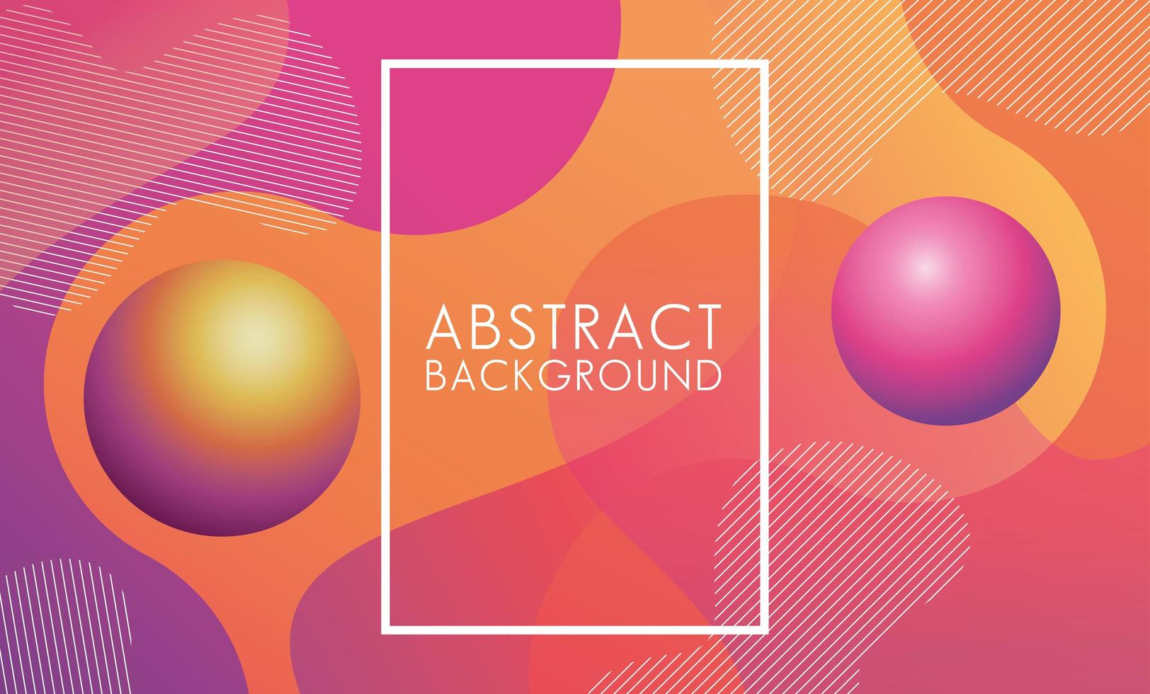 abstrakter Hintergrund mit lebendigen Farben und quadratischem Rahmen vektor