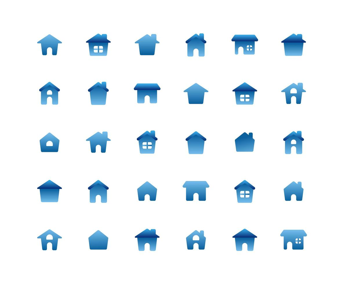 Home Flat Icon Set vektor
