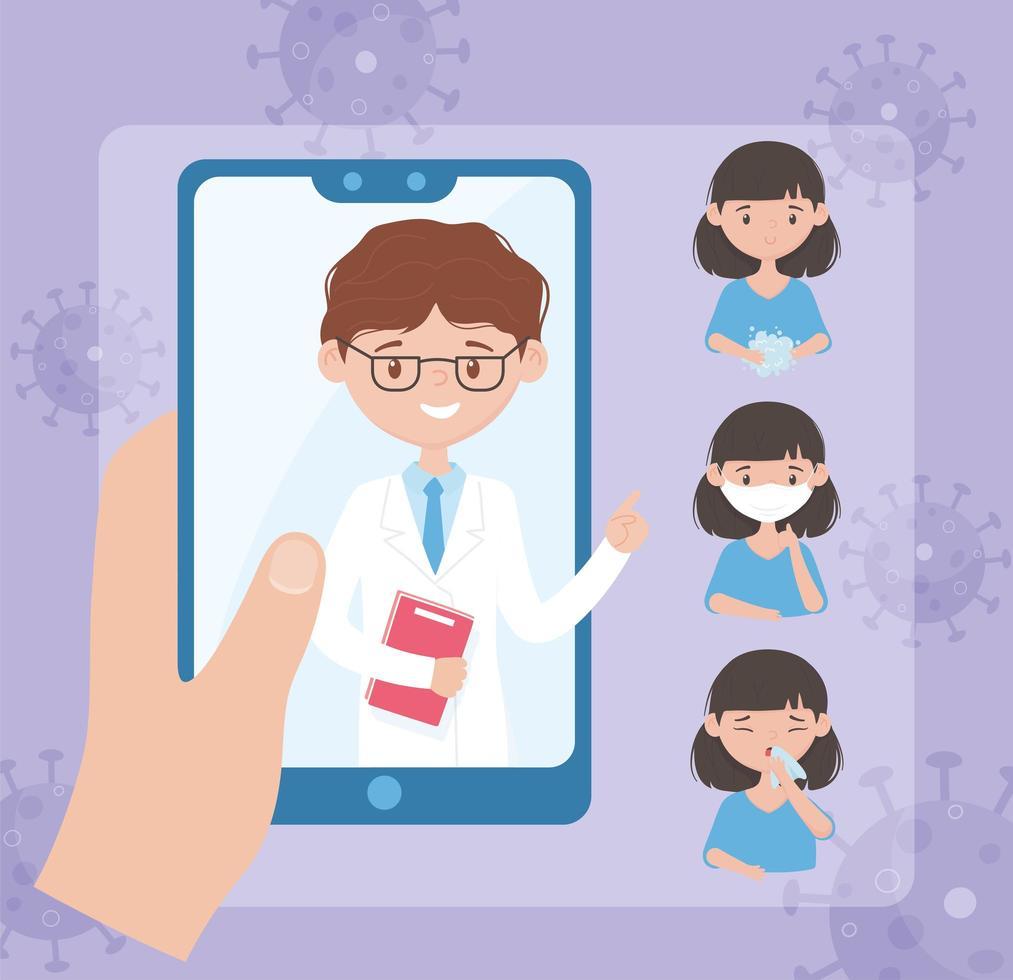 Online-Unterstützung im Gesundheitswesen zur Prävention viraler Infektionskrankheiten vektor