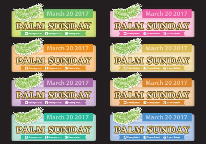 Palmsonntag Banner vektor
