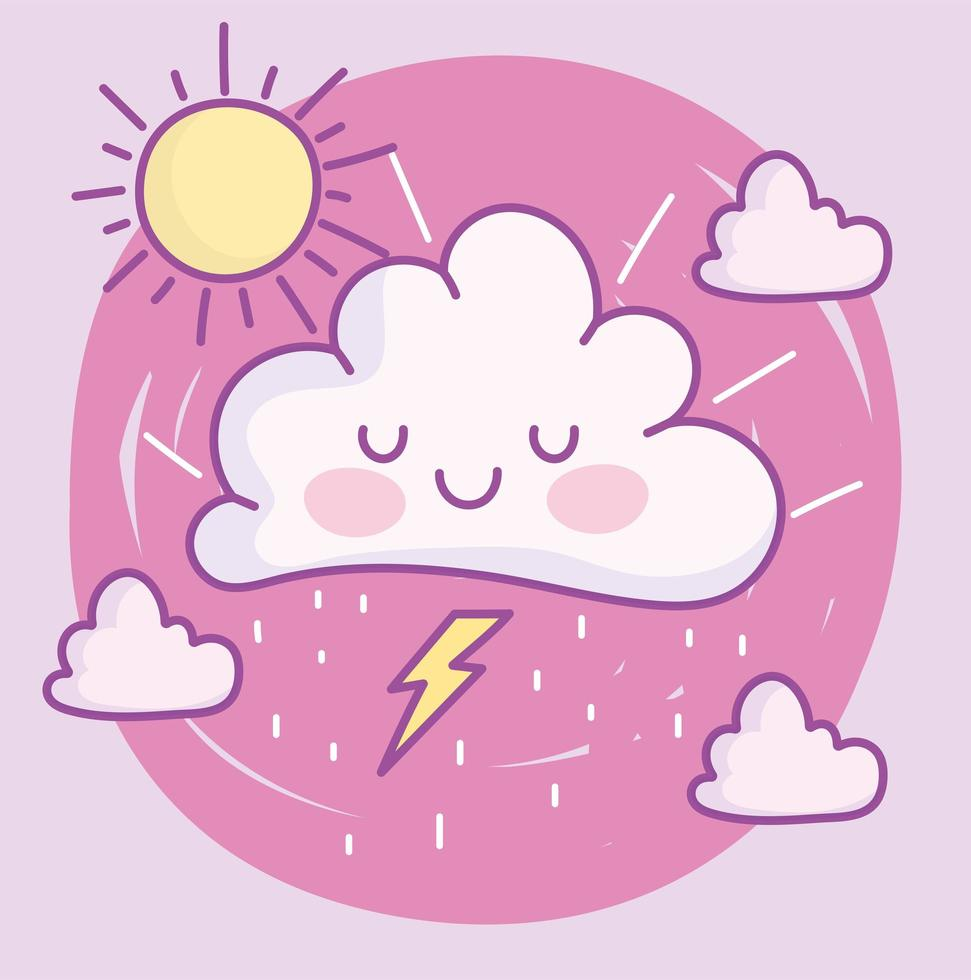 süße Cartoony Wolken vektor