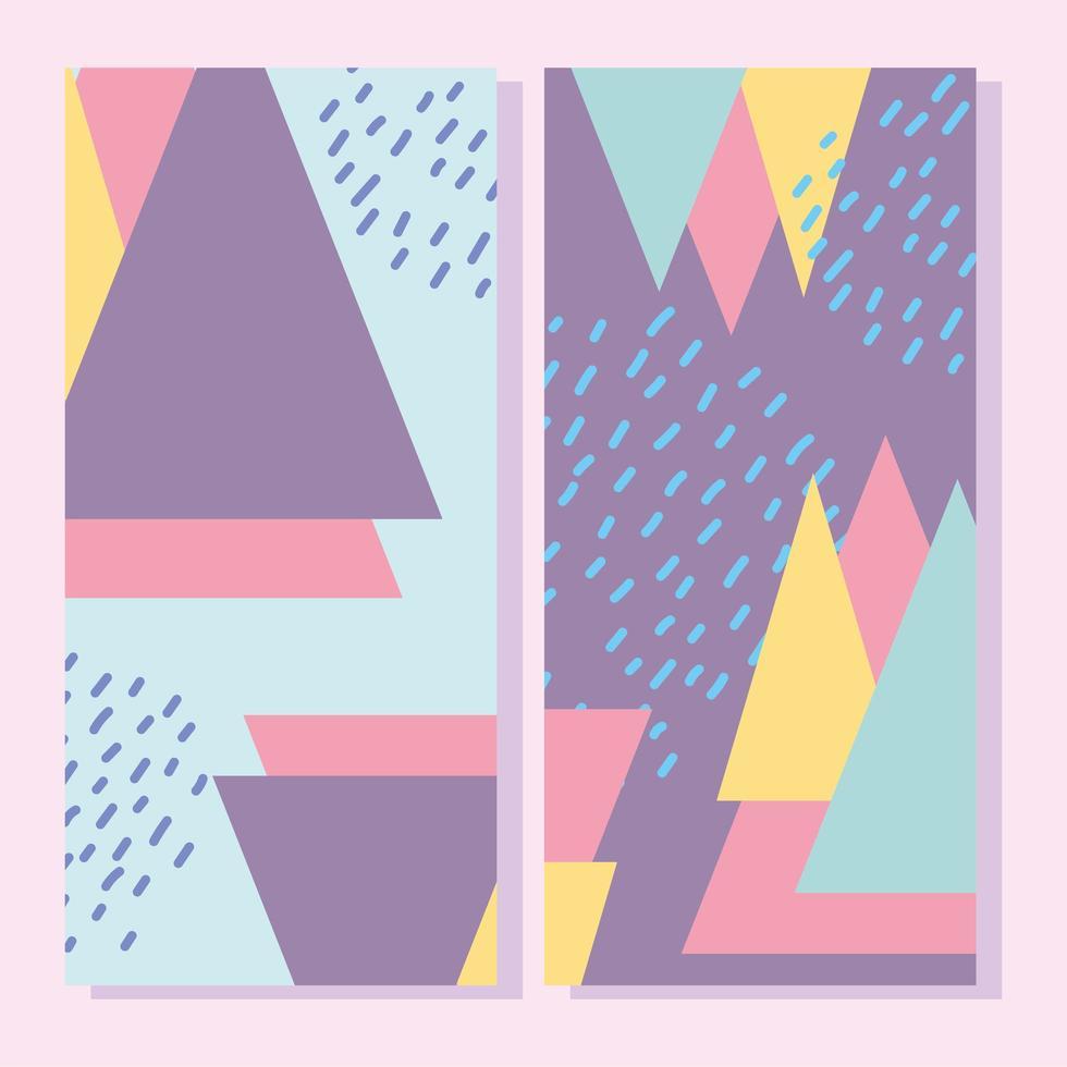 vackra abstrakta färgglada former banner mallar vektor