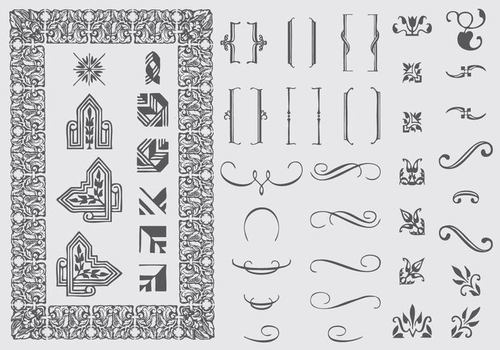 Typografische Ornamente vektor