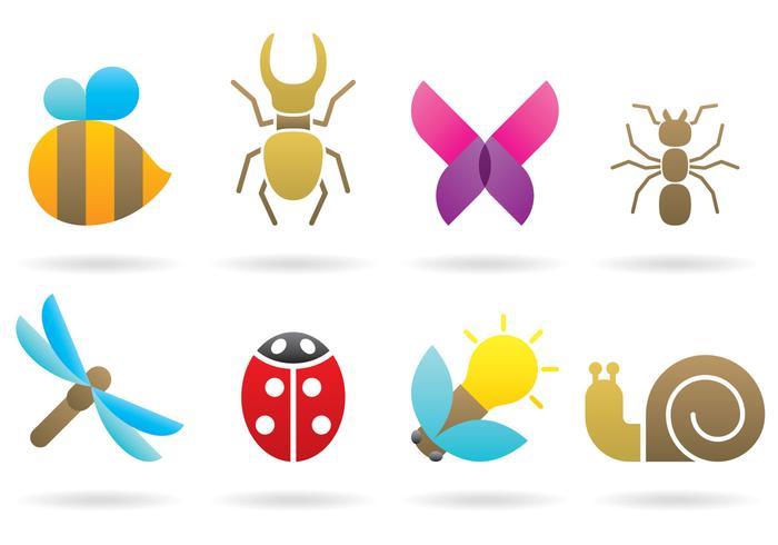 Insektenlogos vektor