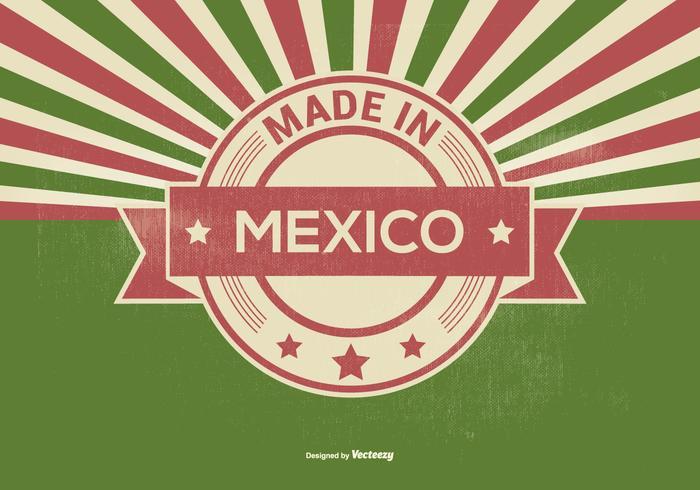 Retro Made in Mexiko Illustration vektor