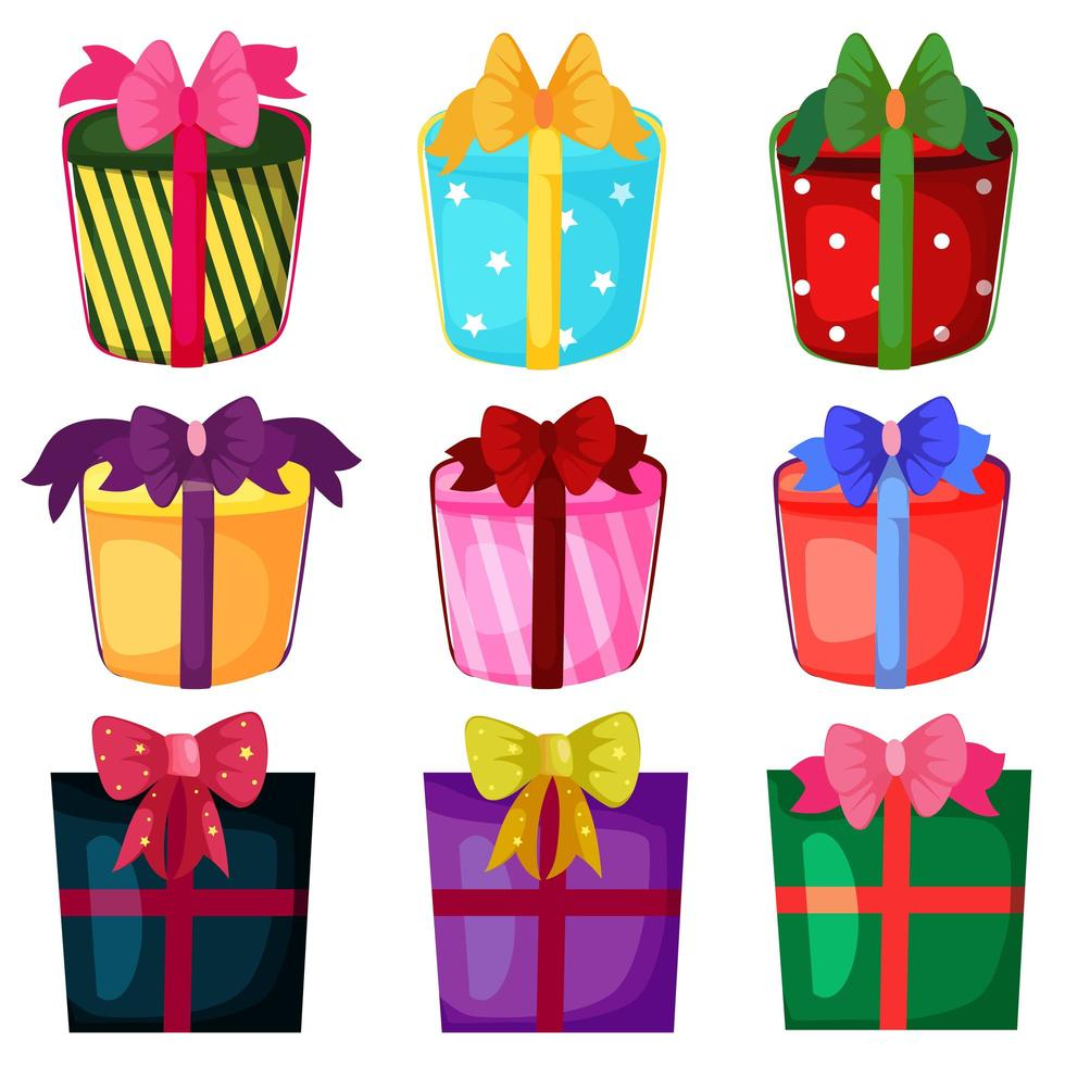 Feiertags-Weihnachtsgeschenk-Box-Set vektor