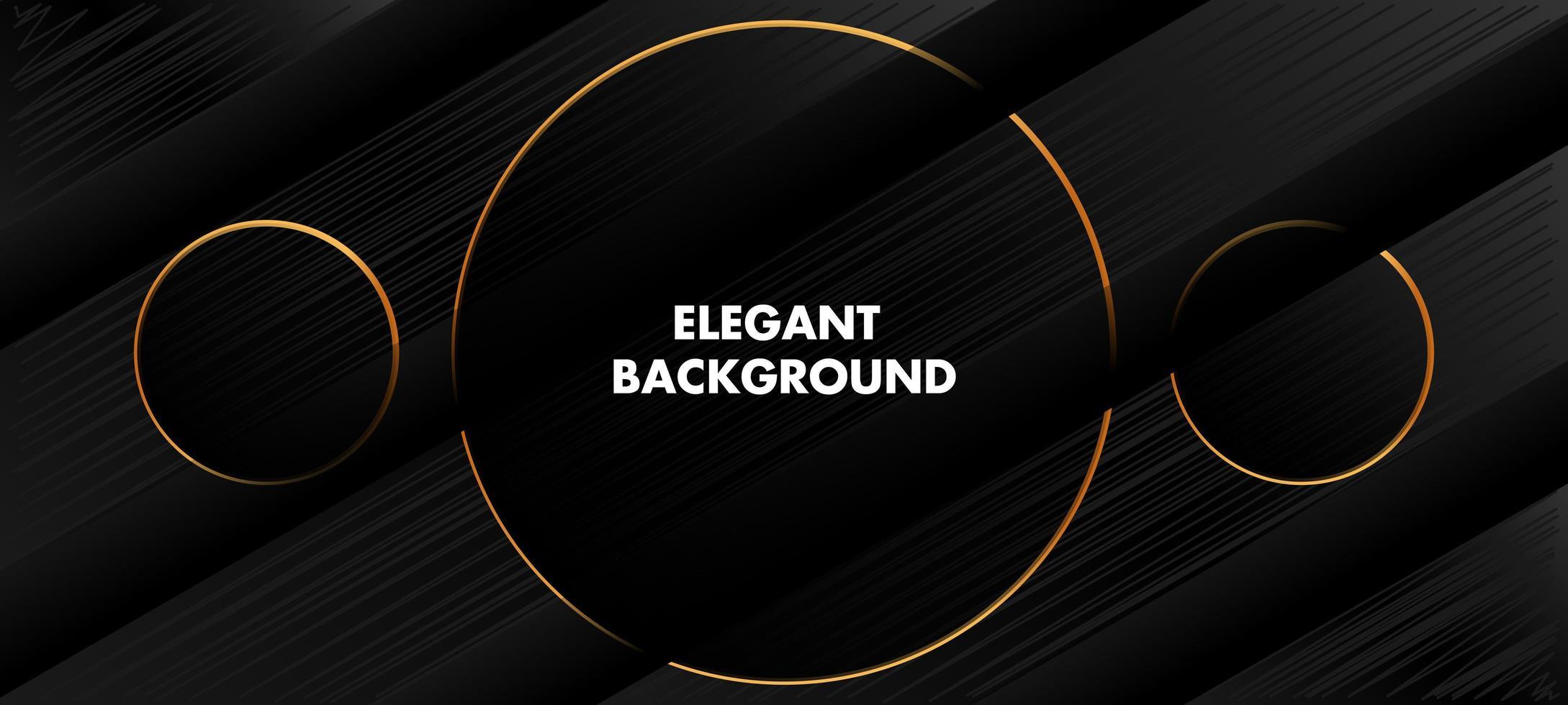 eleganter schwarzer und goldener Linienhintergrund vektor