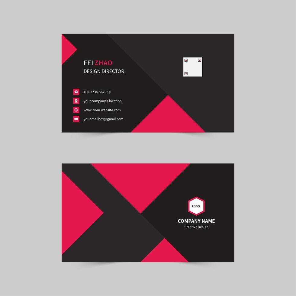 Geschäftsunternehmen Unternehmen Visitenkarte vektor