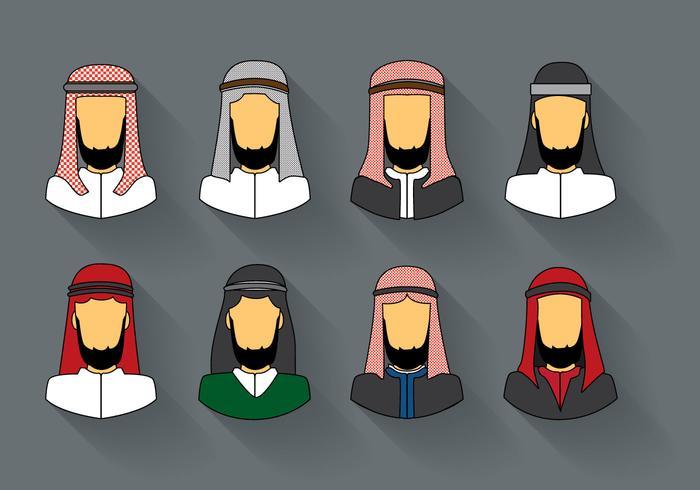 Gratis Arabisk Man Keffiyeh Vector