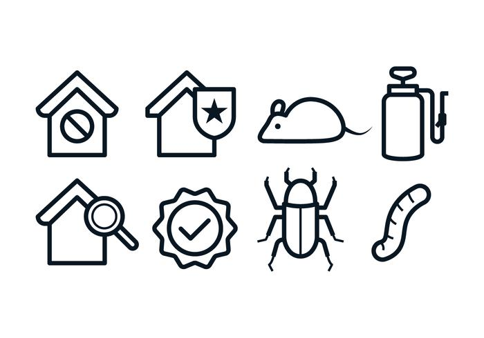 Freie Schädlingsbekämpfung Icons vektor