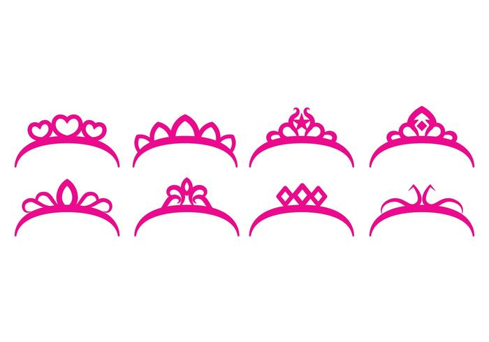 Gratis Crown Set vektor