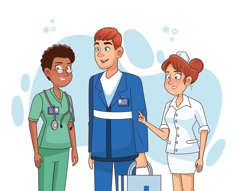 professionell läkare personal vektor