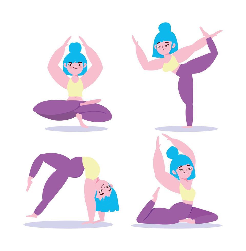 Yoga Asana Set vektor