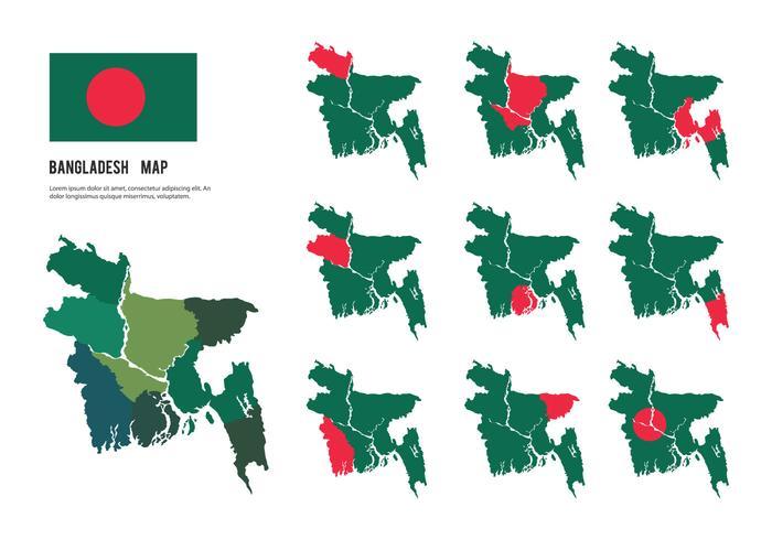 Gratis Bangladesh Map Vectors