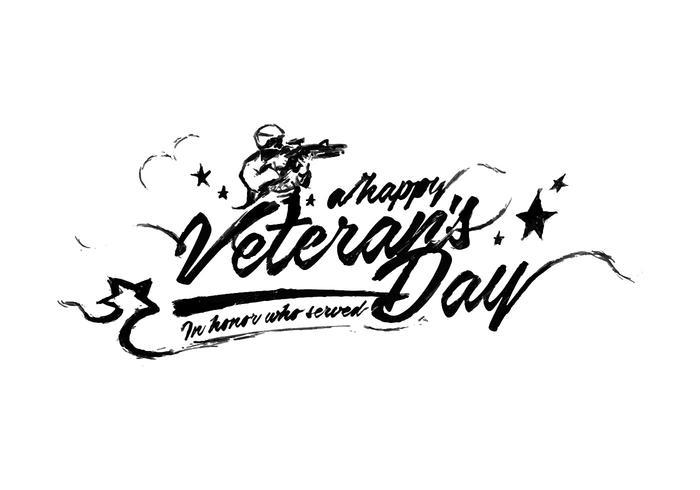 Veteransdag Lettering Vector