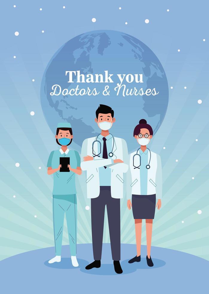 läkare personal karaktärer med meddelande vektor