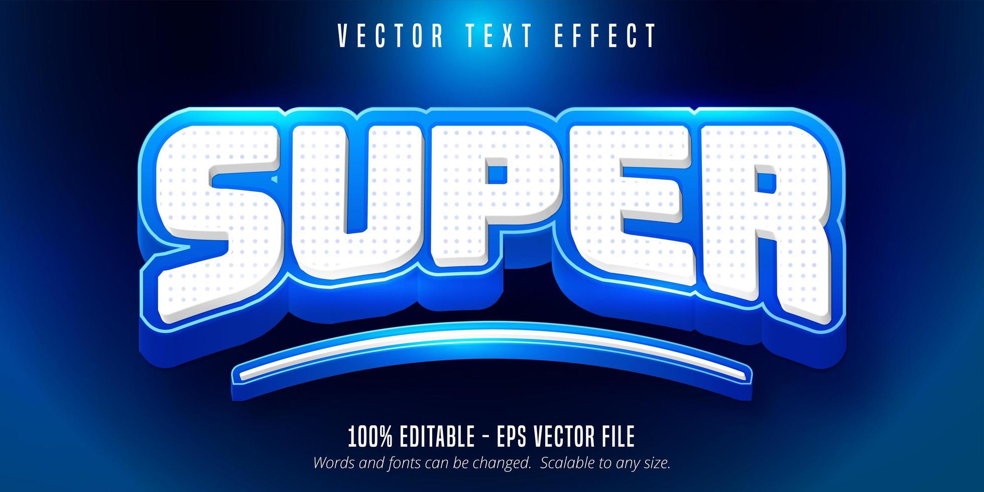 super text, sport stil text effekt vektor