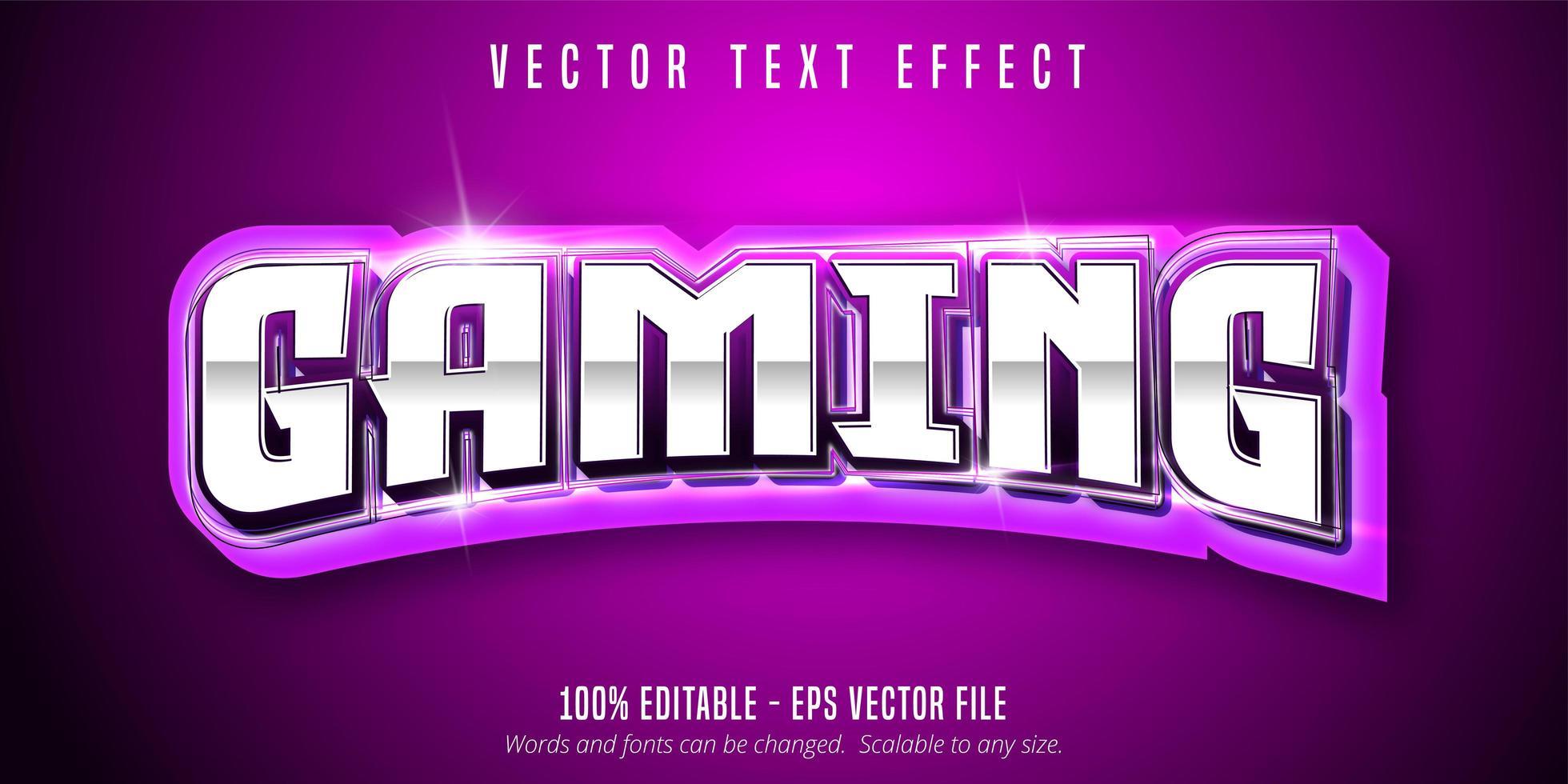 gaming text, sport stil text effekt vektor