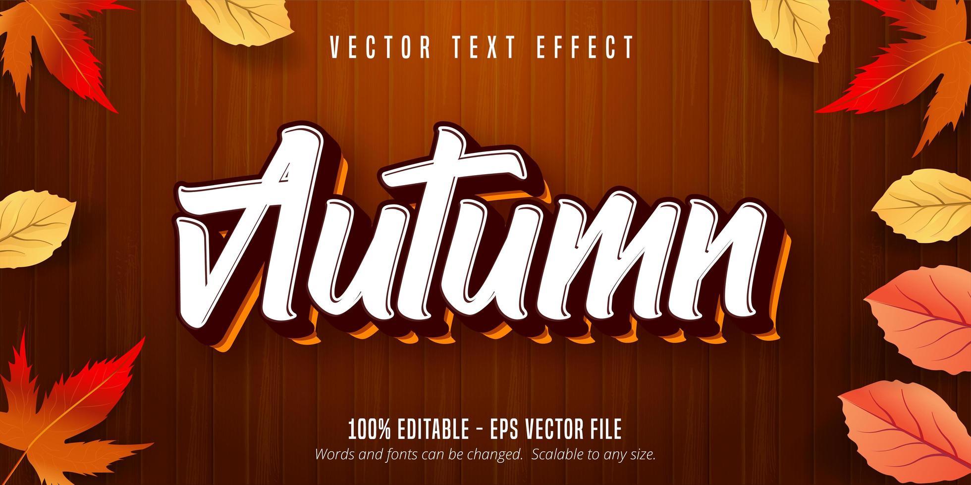 höst stil text effekt på trä textur vektor