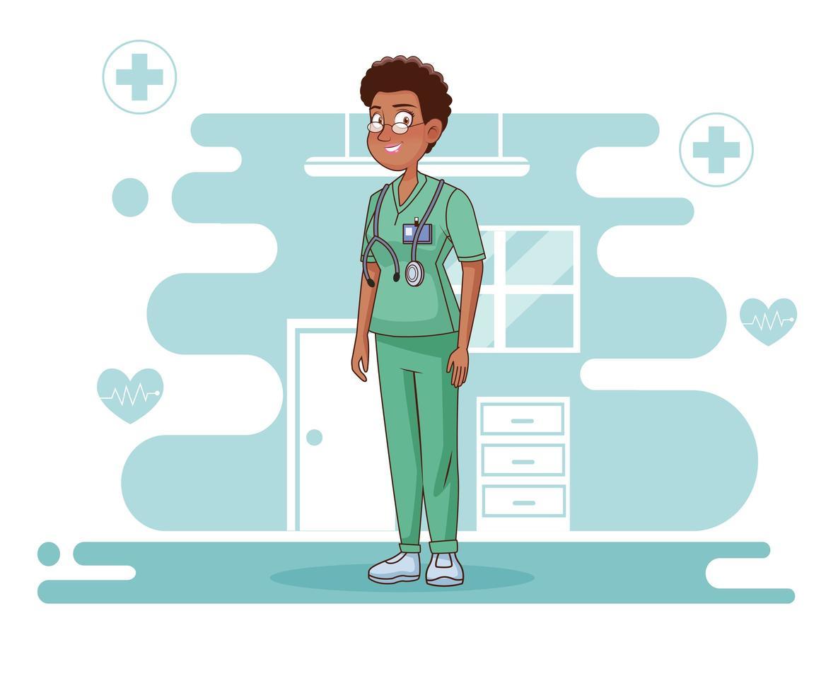 professionelle weibliche Chirurgin Charakter vektor