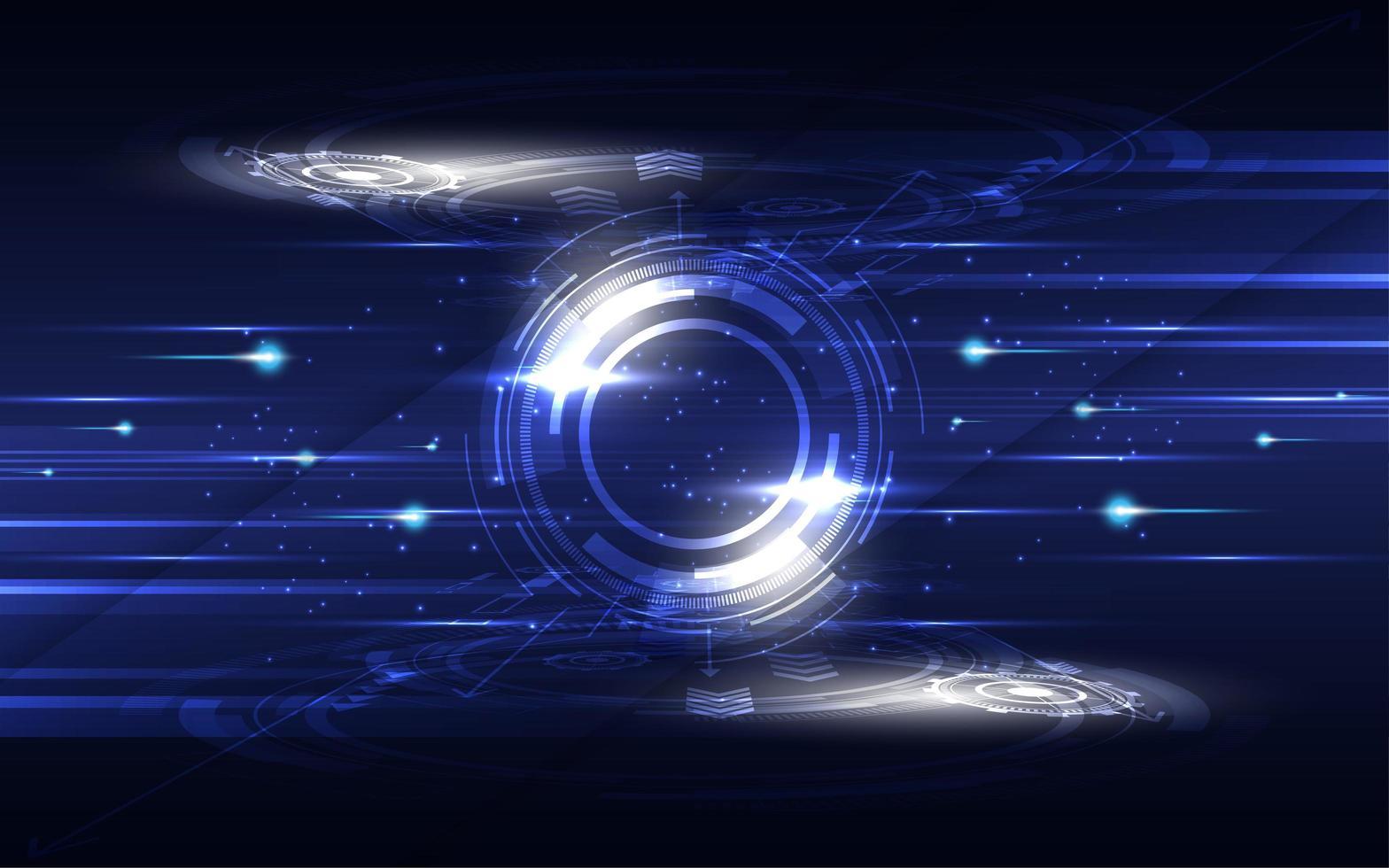 glödande blå och vita högteknologiska kommunikationskoncept vektor