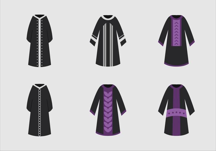 Abaya Kleid schwarz Modell vektor