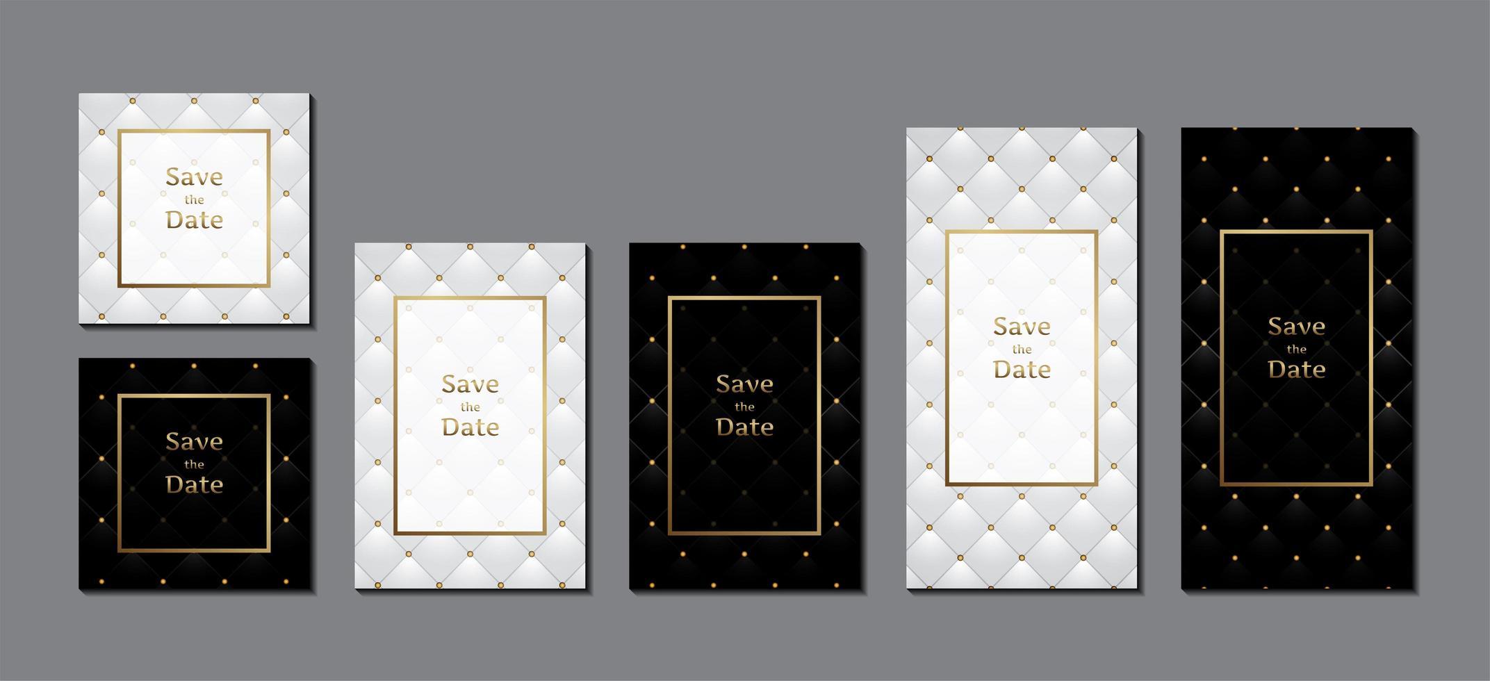 bröllop inbjudningskort med ram för textmeddelande vektor