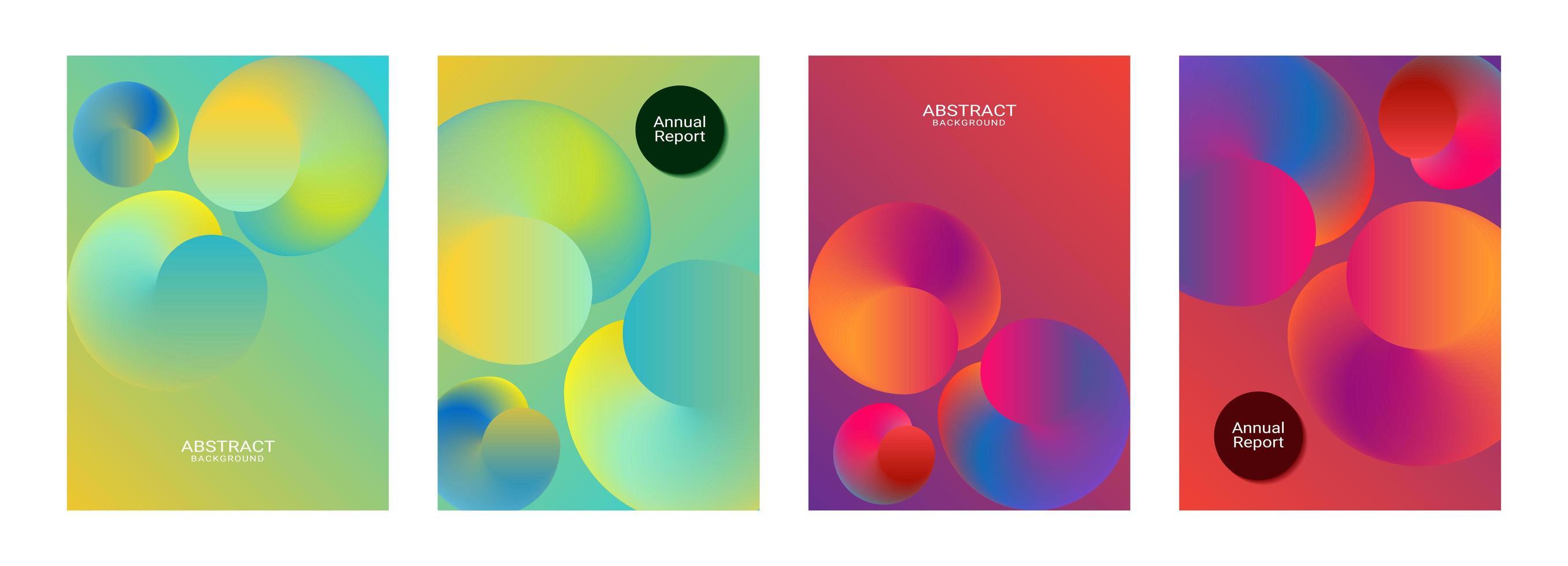 schönes Design der Vorlage für den Jahresbericht der Farbverlaufskugel vektor