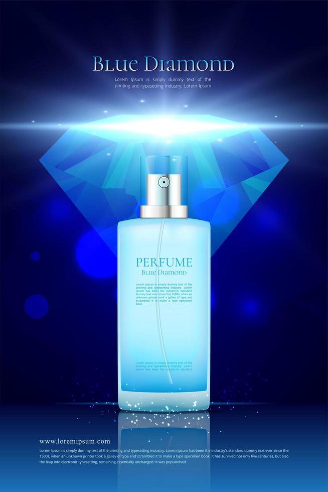Blue Diamond Parfüm Anzeige vektor