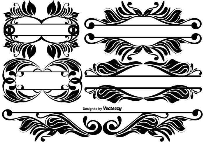 Vintage ornamentale dividers vektor