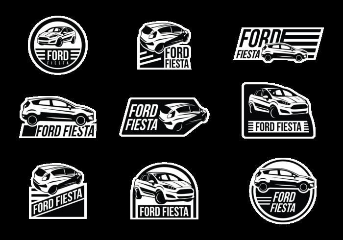 Ford Fiesta Vektor Etiketten