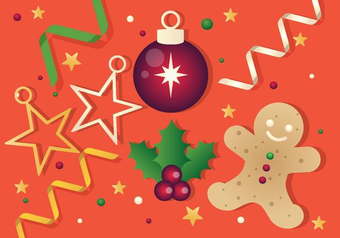 Free Vector Weihnachten Hintergrund Illustration