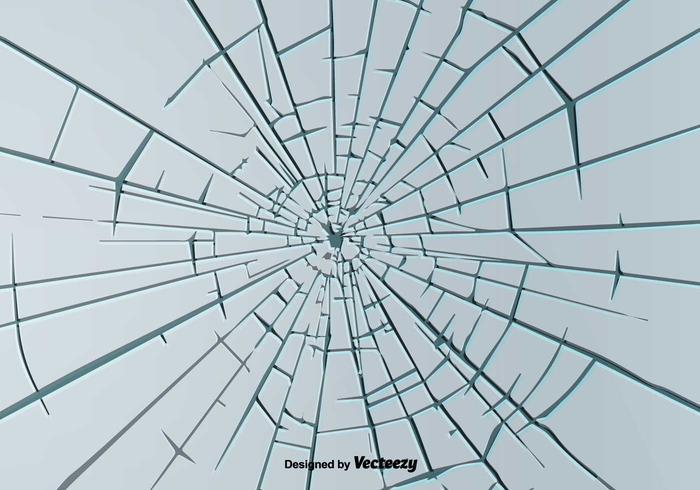 Broken Window Hintergrund Vektor