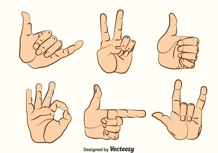 Handgesten Vector Set