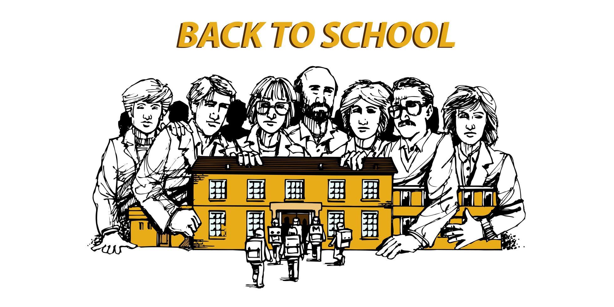 tillbaka till kunskapskonceptet för skolutbildning vektor