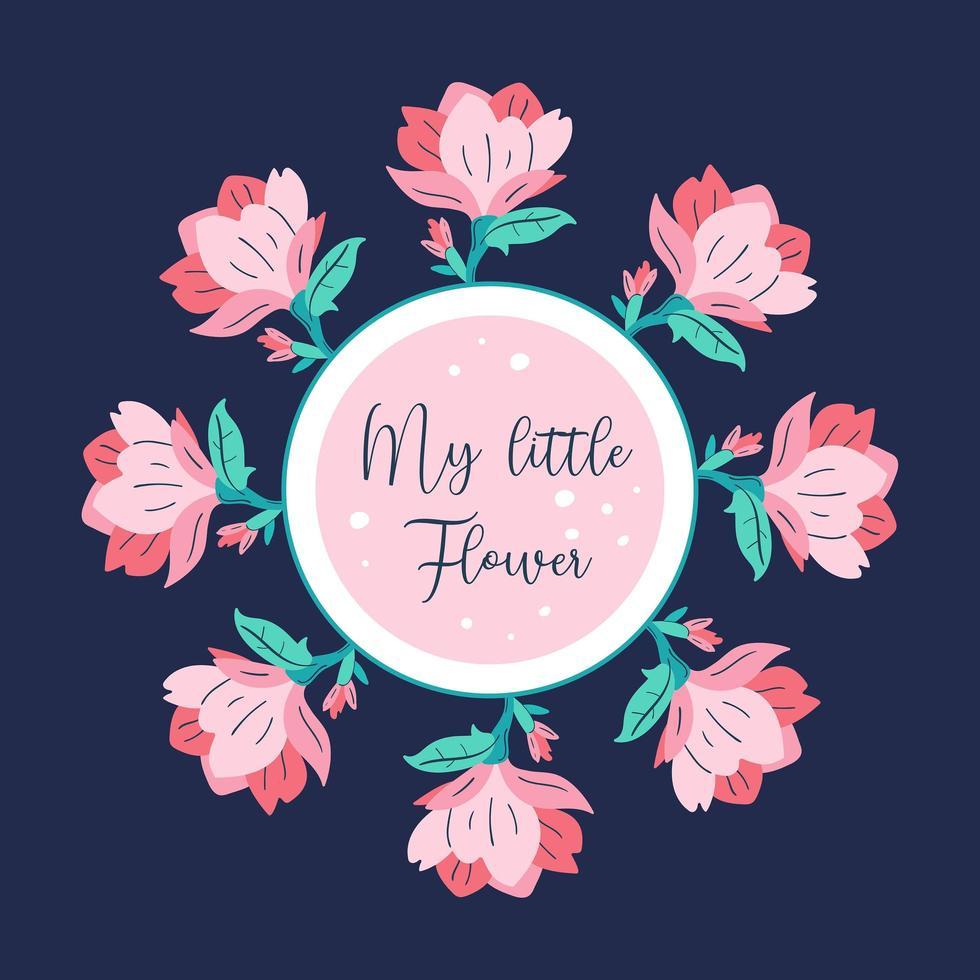 min lilla blomma vektor