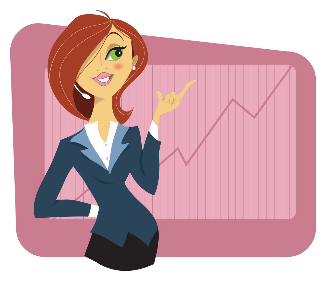ung kvinna i en affärsdräkt vektor